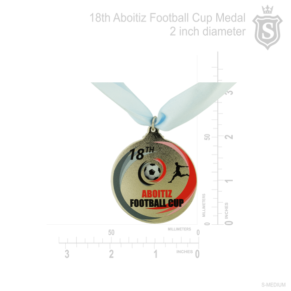 18th Aboitiz Football Cup Medal