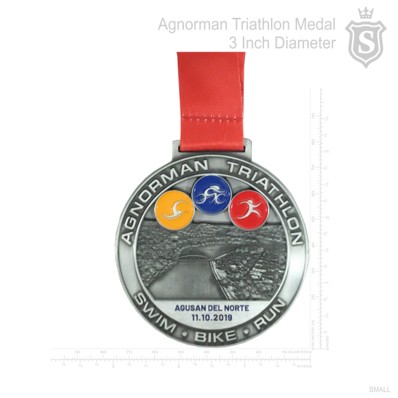 Agnorman Triathlon Medal