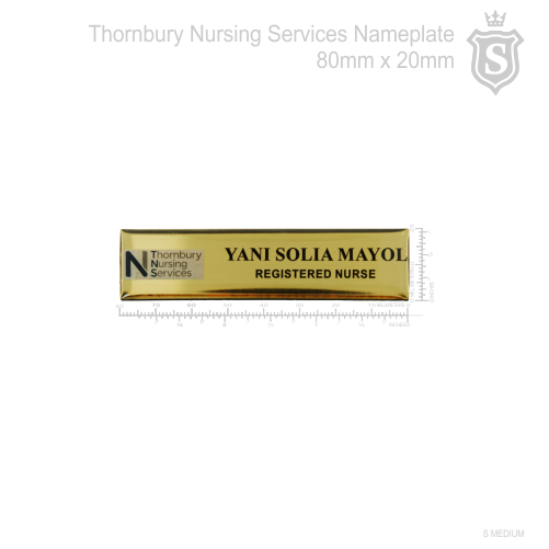 Thornbury Nursing Services Nameplate