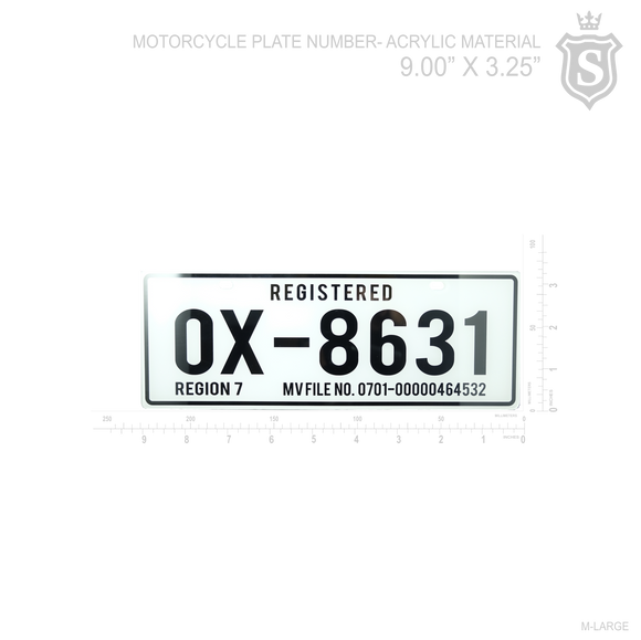 Motorcycle Plate number- Acrylic Material
