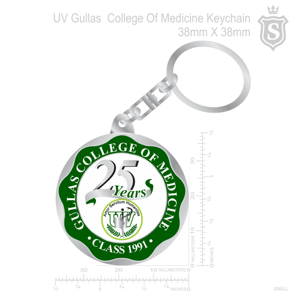 Gullas College of Medicine Keychain silver 38mm