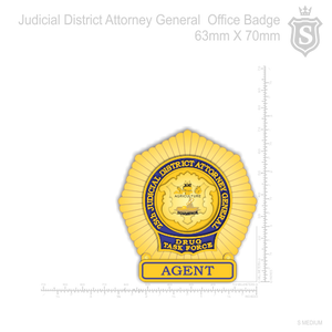 Judicial District Attorney General Office Badge 70mm