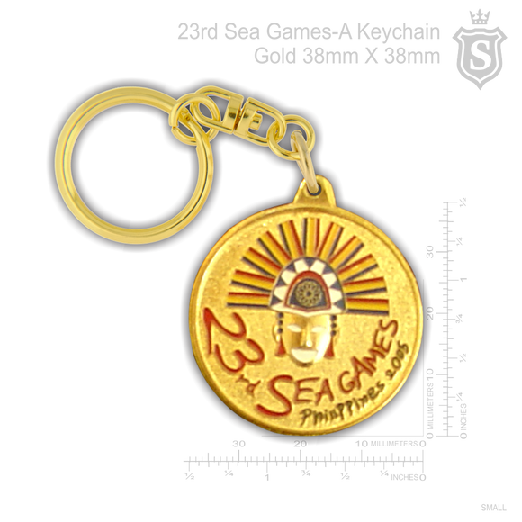 23rd Sea Games - Keychain Gold 38mm