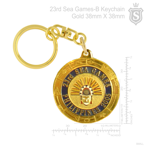 23rd Sea Games -B Keychain Gold 38mm