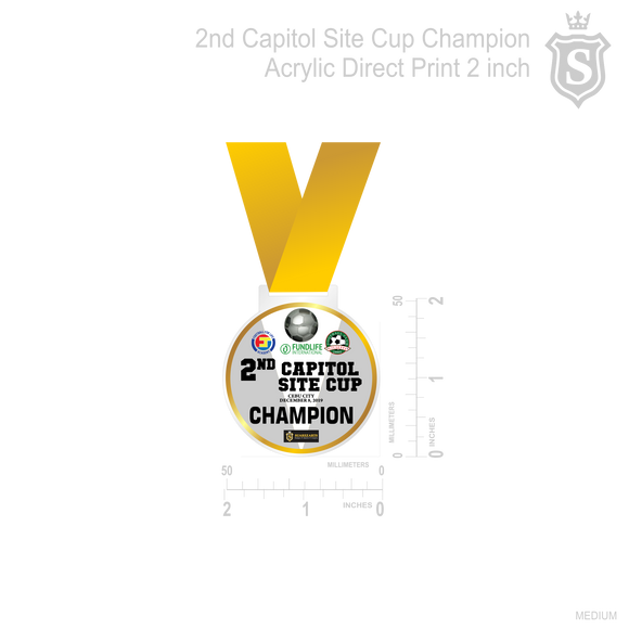 2nd Capitol Site Cup Medal