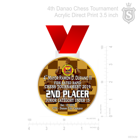 4th Danao Chess Tournament Medal 2019