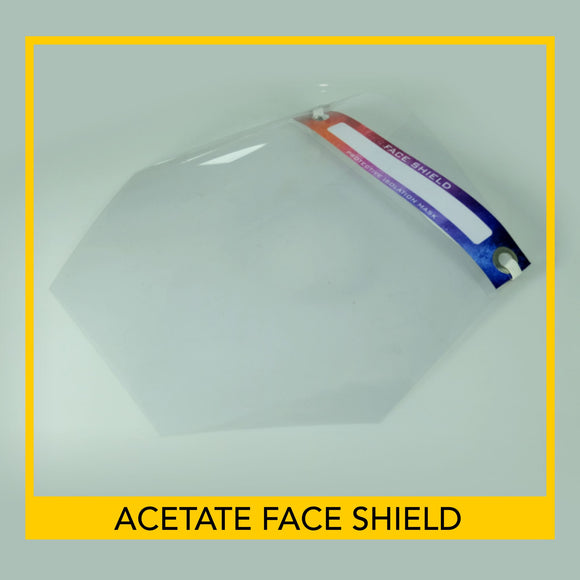 Transparent Full Face Shield -10 pieces per pack