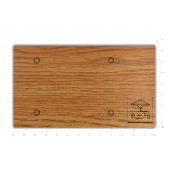 Rectangular Wooden Sizzling Plate