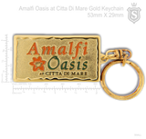 Amalfi Oasis at Citta Di Mare Gold Keychain 53mm