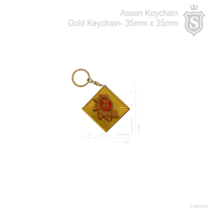 Asean Gold Keychain 35mm