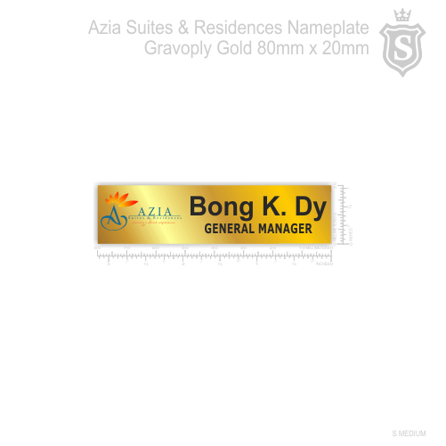 Azia Suites & Residences Nameplate