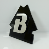 B Cut Out  Signage Acrylic with Triangular Back 11.5 inch