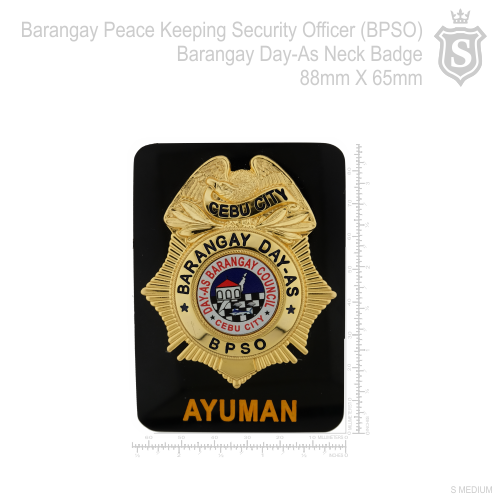 Barangay Peacekeeping Security Officer (BPSO) Badge