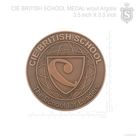 CIE Centre for International Education British School Medal without Argolia 3.5