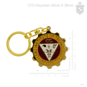 Cebu Institute of Technology University (CITU) Gold Keychain 38mm
