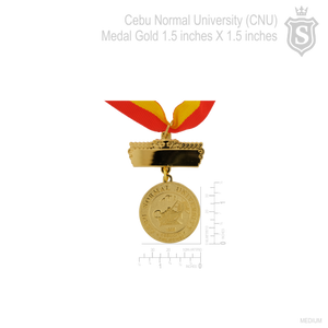 Cebu Normal University (CNU) Gold Medal 1.5 inch