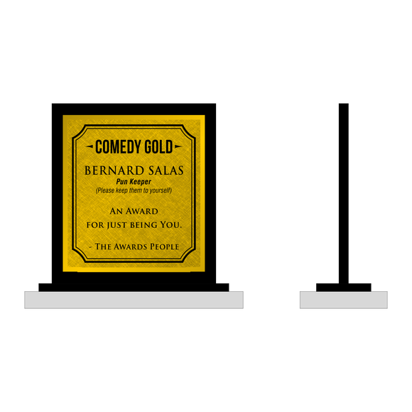 Comedy Gold Plaque
