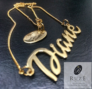 "Cut Out Name Pendant ""Diane"""