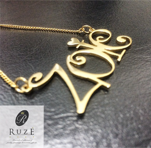 "Cut Out Name Pendant ""Zoie"""