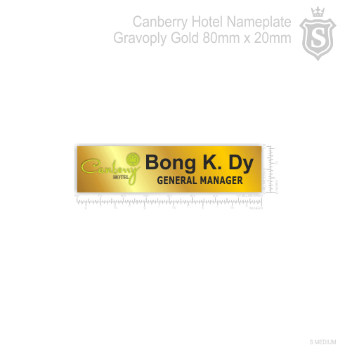 Canberry Hotel Nameplate