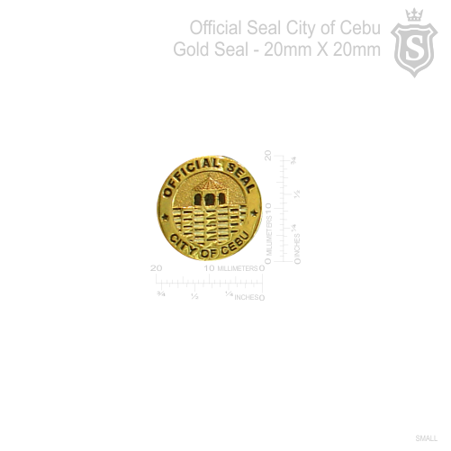 Official Seal City of Cebu Gold Seal 20mm