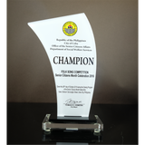 Cebu City Office of the Senior Citizens Affairs (OSCA) Folk Song Plaque of Recognition 8.69 inch