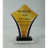 Cebu First Realty Ventures Top 5 Award Plaque 7 inch
