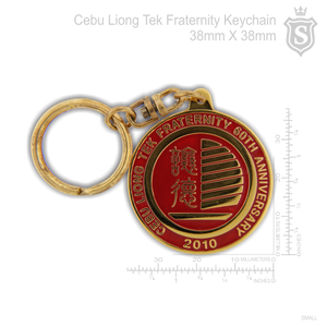 Cebu Liong Tek Fraternity Keychain Gold 38mm