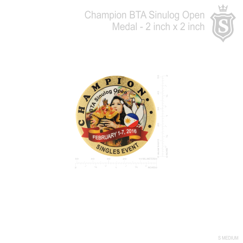 BTA Sinulog Open Champion Medal