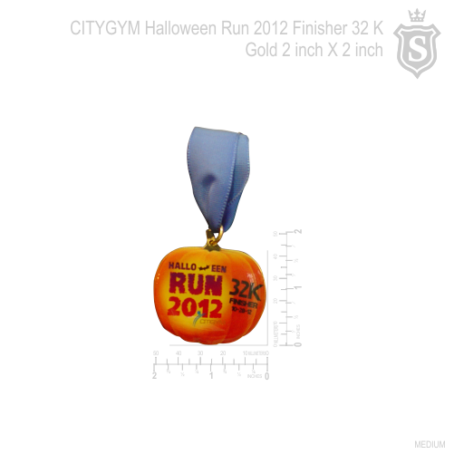 CITIGYM Halloween Run 2012 32K Gold 2 inch