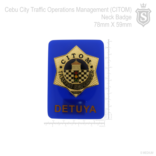 Cebu City Traffic Operations Management (CITOM) Neck Badge 78mm