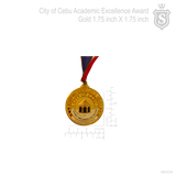 City of Cebu Academic Excellence Award Medal Gold 1.75 inch
