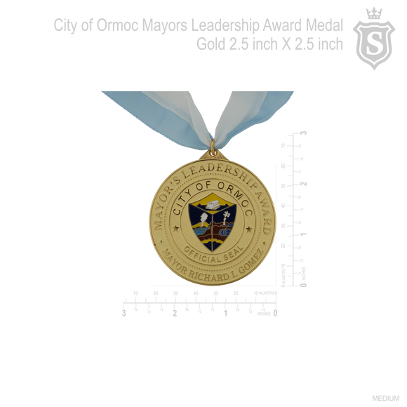 City of Ormoc Mayor's Leadership Award God Medal 2.5 inch 2017