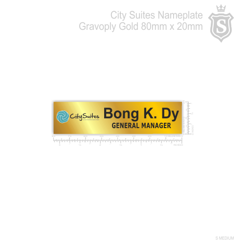 City Suites Nameplate