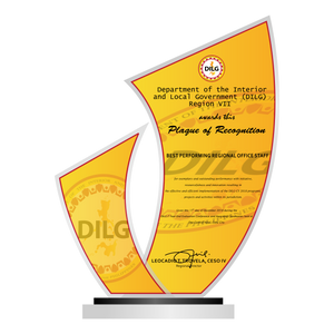 "DILG Best Performing Regional Office Plaque 10""H"