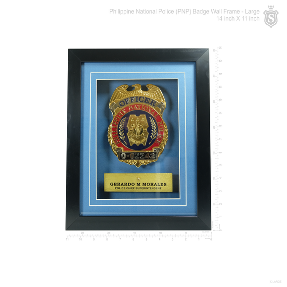 PNP Badge Wall Frame -Large 14 inch
