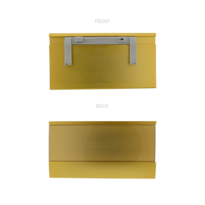 Nameplate Slider Gold 80mm