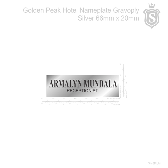Golden Peak Hotel Nameplate