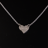 Heart Pendant with Engrave Name Silver Small 15mm
