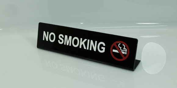 Acrylic Bended No Smoking Table Signage