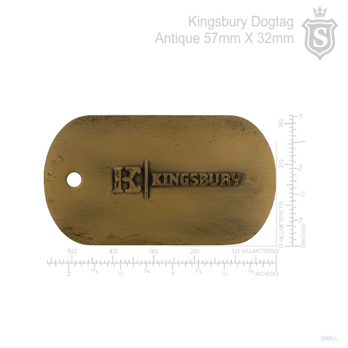Kingsbury Dogtag Antique 57mm