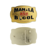 Manila M2D 342 Kilometer Bicol Finisher Buckle Gold 3.5 inch