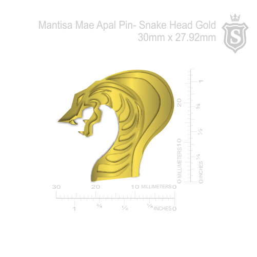 Mantisa-Snake Head Pin