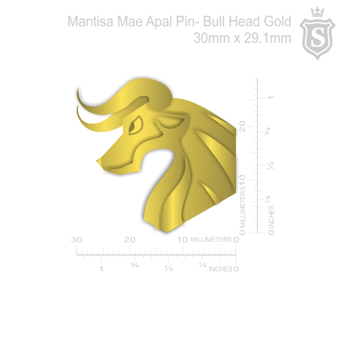 Mantisa-Bull Head Pin