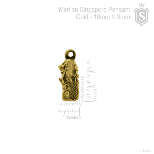 Merlion Singapore Pendant