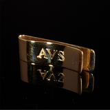 Money Clip with Engrave Letter Initial Gold 63mm