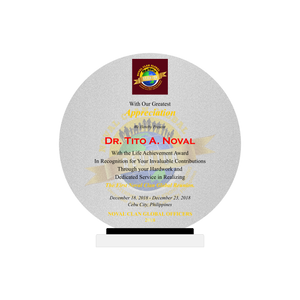 Noval Clan Global Acrylic Round Plaque