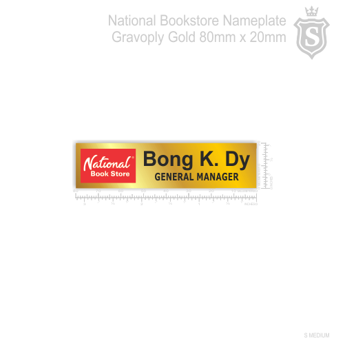 National Bookstore Nameplate