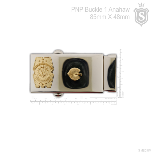 Philippine National Police (PNP) PCO Buckle with 1 Anahaw 85mm