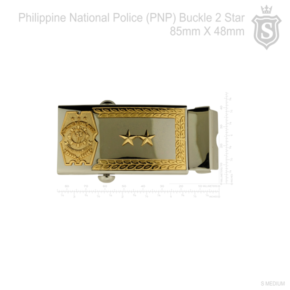 Philippine National Police (PNP) PCO Buckle with 2 Star 85mm